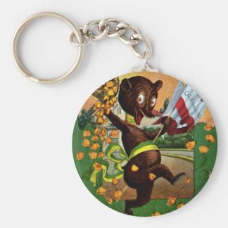 California Admission Day Festival Bear Basic Round Button Keychain