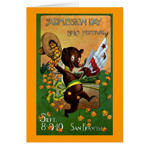 California Admission Day Festival Bear Greeting Card