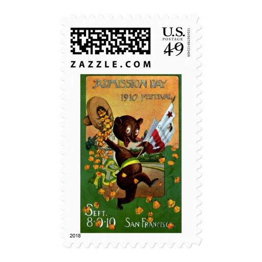 California Admission Day Festival Bear Postage