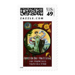 California Admission Day Festival Woman with Bear Postage Stamp