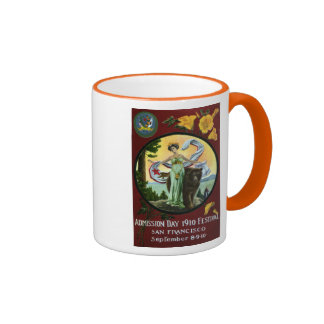 California Admission Day Festival Woman with Bear Ringer Mug
