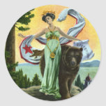 California Admission Day Festival Woman with Bear Sticker