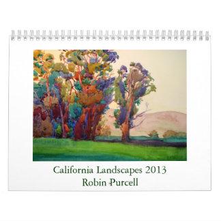 California ajardina 2013 por el petirrojo Purcell Calendario De Pared