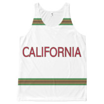 California All-Over Printed Unisex Tank