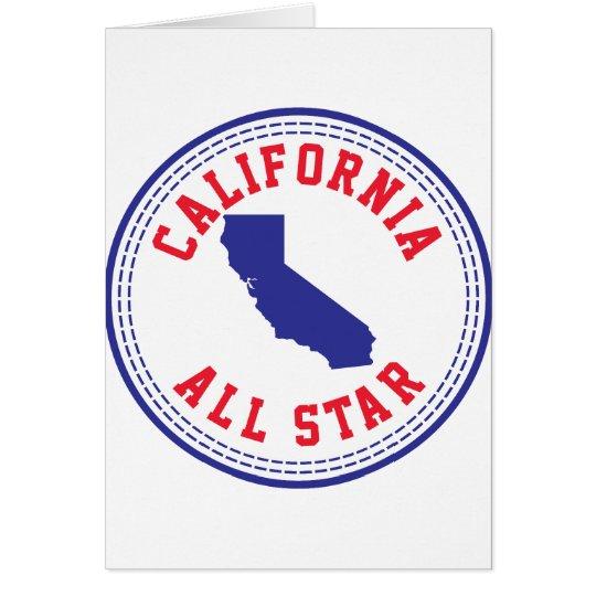 California All Star Card