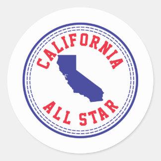 California All Star Classic Round Sticker