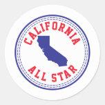 California All Star Pegatina Redonda