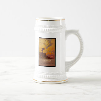 California. America's Vacation Land Beer Stein