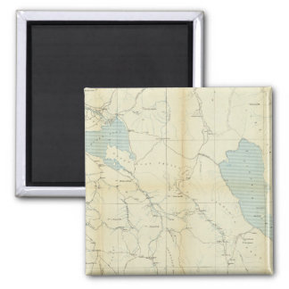 California and Nevada 3 2 Inch Square Magnet