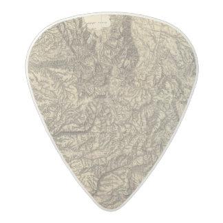 California and Nevada 4 Acetal Guitar Pick