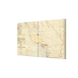 California and Nevada 9 Canvas Print