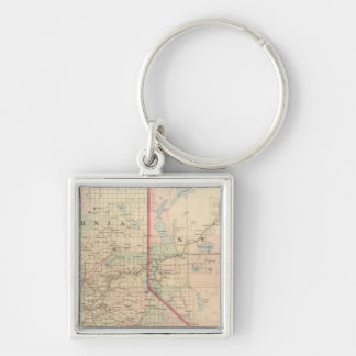 California and Nevada North Portion Keychain