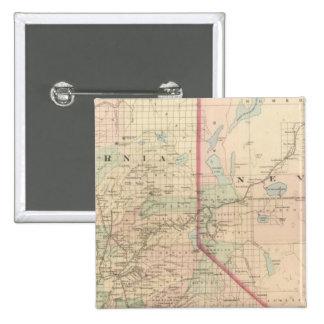 California and Nevada North Portion Pinback Button