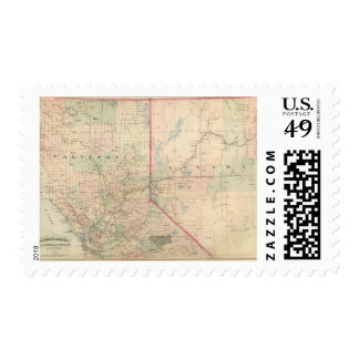 California and Nevada North Portion Postage