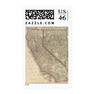 California and Nevada Postage Stamps