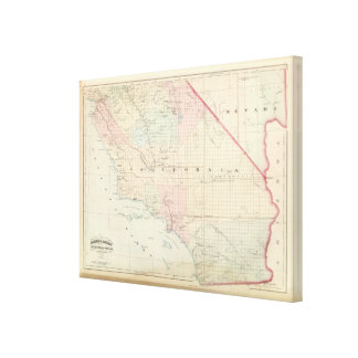California and Nevada South Portion Canvas Print
