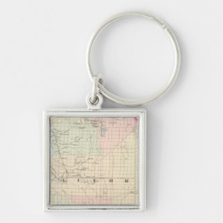 California and Nevada South Portion Keychain