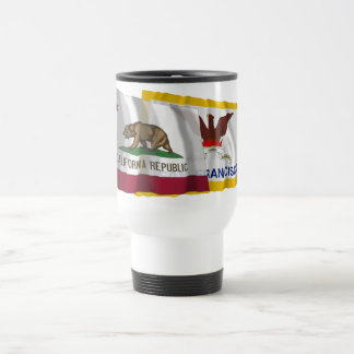 California and San Francisco Flags Travel Mug