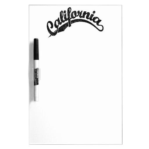 California apenó el logotipo de la escritura en ne pizarras blancas de calidad