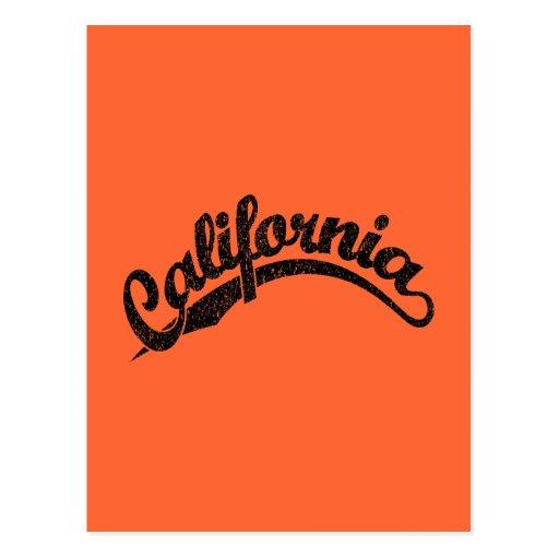 California apenó el logotipo de la escritura en ne postal