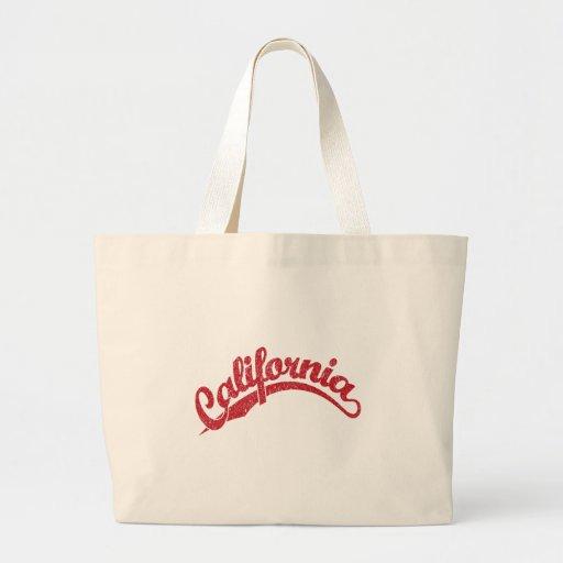 California apenó el logotipo de la escritura en ro bolsas de mano