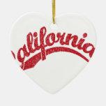 California apenó el logotipo de la escritura en ro ornaments para arbol de navidad