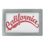 California apenó el logotipo de la escritura en ro hebillas cinturón