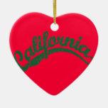 California apenó el logotipo de la escritura en ve ornamento para reyes magos