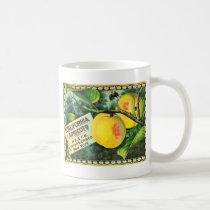 California Apricots Vintage Crate Label Retro Coffee Mug