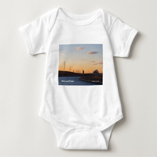 California Aqueduct Windmills Altamont Products Baby Bodysuit