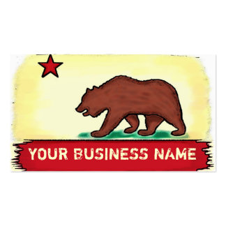 California artistic state flag custom cards Double-Sided standard business cards (Pack of 100)