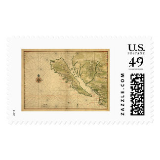 California As An Island 1650 Postage