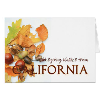 California autumn leaves thanksgiving greeting card