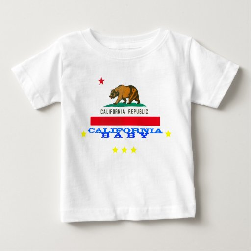 california baby + flag baby T-Shirt