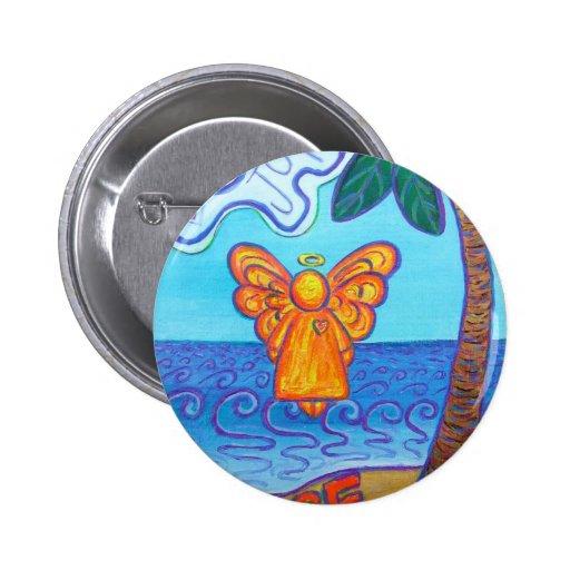 California Beach Angel 2 Inch Round Button