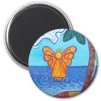 California Beach Angel Magnet