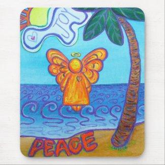 California Beach Angel Mousepad