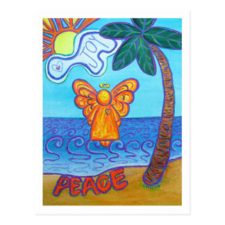 California Beach Angel Postcard