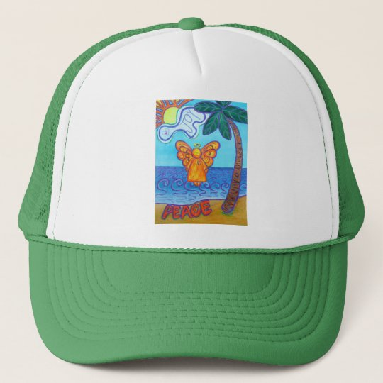 California Beach Angel Trucker Hat