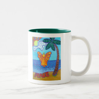 California Beach Angel Two-Tone Coffee Mug
