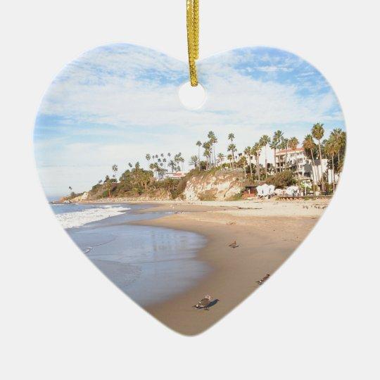 California Beach Ceramic Ornament