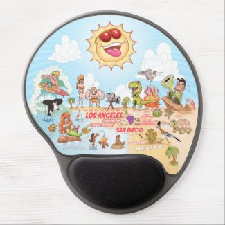California Beach Life Gel Mouse Pad