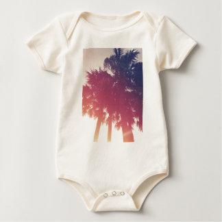 California Beach Life - Palm Trees - Sunset Baby Bodysuit