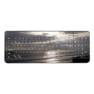 California Beach Ocean Cross Wireless Keyboard
