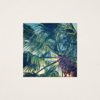 California Beach Palm Fronds Square Business Card