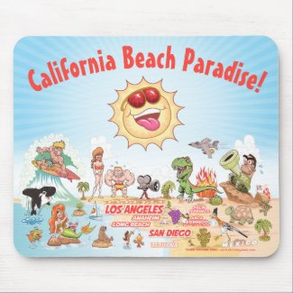 California Beach Paradise Mouse Pad