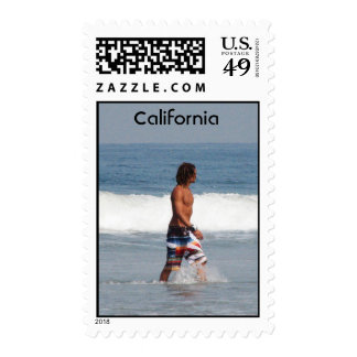 California Beach Postage Stamps