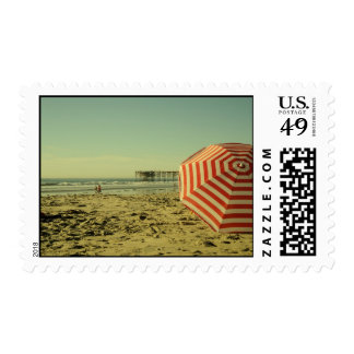 California Beach Postage Stamp