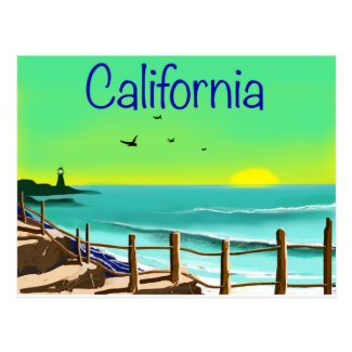 California Beach Postcard