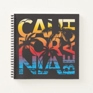 California Beach Poster Notebook